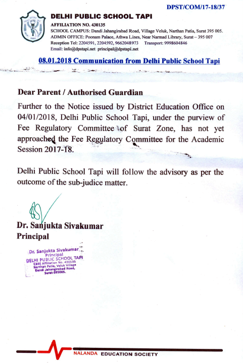 Fee Notice dpstapi